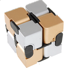 Infinity (Endless Fold) Cube - 2 color (gold & silver) -