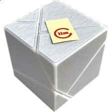 limCube Ghost Cube 2x2x2 DIY - White Body with Silver labels - Other Rotational Puzzles