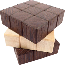 Twisted Cube - European Wood Puzzles