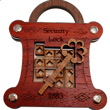 Security Lock - European Wood Puzzles