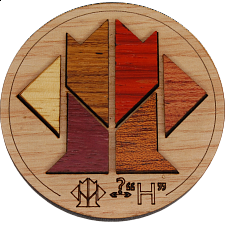Minipuzzle - New H - European Wood Puzzles