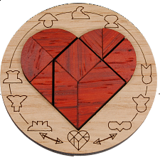 Minipuzzle - Broken Heart - European Wood Puzzles