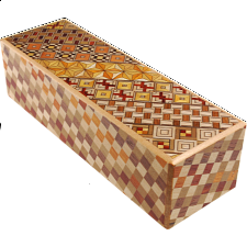 Right and Left 5 Step Koyosegi / Checkered - Japanese Puzzle Boxes
