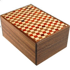 4 Sun 12 Step Ichimatsu / Natural - Japanese Puzzle Boxes
