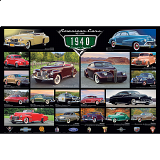 American Cars of the 1940's - 1000 Pieces