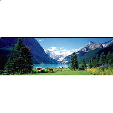 Lake Louise, Canadian Rockies: Panoramic Puzzle - New Items