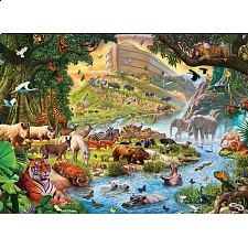 Noah's Ark, Before The Rain - Large Piece Family Puzzle -