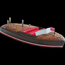 Cribbage Board - Classic Boat -