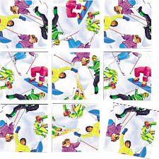 Scramble Squares - Skiing -