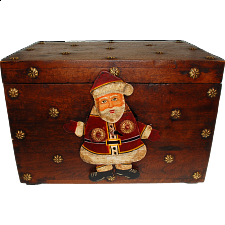 Wooden Gift Box with Iron Santa Lock - Puzzle Boxes