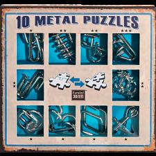 10 Metal Puzzle Set - Blue -