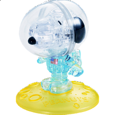 3D Crystal Puzzle - Snoopy Astronaut -