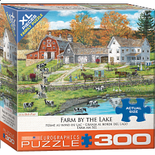 Farm By The Lake - Large Piece -