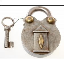 Antique Puzzle Lock 'A' - Search Results
