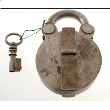 Antique Puzzle Lock 'B' - Wire & Metal Puzzles