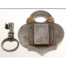 Antique Puzzle Lock 'F' - Search Results