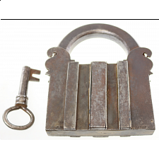 Antique Puzzle Lock 'I' - Search Results