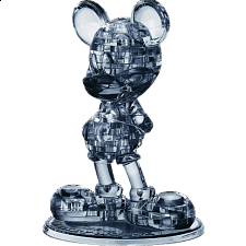 3D Crystal Puzzle - Mickey Mouse 2 (Black) -