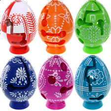 Group Special - A set of 6 Easter Smart Egg Labyrinth Puzzles -