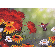 Hummingbird and Red Flower - Search Results