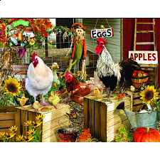 Chickens On The Farm - Large Piece Jigsaws