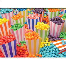 Yummy Puzzles: Popcorn Party - 101-499 Pieces
