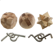 Intellectual Property - 5 Mini Puzzle Set - Wood Puzzles