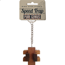 Pure Genius Keychain Puzzle - Speed Trap - Other Wood Puzzles