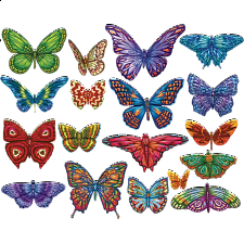 Butterflies II - 18 Mini Shaped Puzzles - 500-999 Pieces