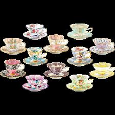 Teacups: 12 Mini Shaped Puzzles - Jigsaws