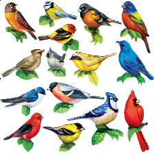 Songbirds II: 15 Mini Shaped Puzzles - 500-999 Pieces