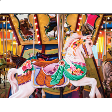 Colorluxe: Colorful Wooden Carousel - 101-499 Pieces