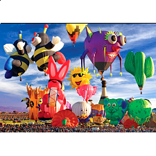 Colorluxe: Funky Shapes Hot Air Balloons at Albuquerque Festival - 101-499 Pieces