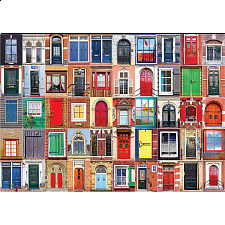 Colorluxe: Colorful Dutch Windows and Doors - 1001 - 5000 Pieces