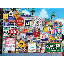 Colorluxe: Old Ad Signs, Road Signs and Vehicle License Plates - 1001 - 5000 Pieces