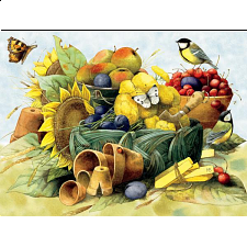 Marjolein Bastin: Sunflower and Harvest Fruits - Jigsaws