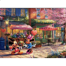 Thomas Kinkade: Disney - Mickey & Minnie Sweetheart Cafe - Search Results