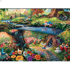 Thomas Kinkade Disney - Alice In Wonderland - Large Piece - Thomas Kinkade