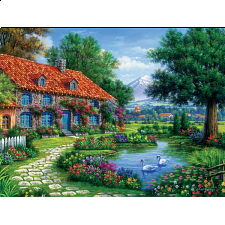 Arturo Zarraga: Cottage With Swans - Search Results