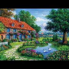 Arturo Zarraga: Cottage With Swans - Jigsaws