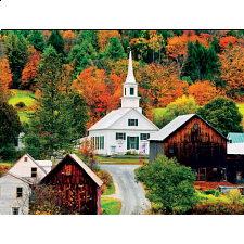 USA: Waits River Church - Vermont, New England - 500-999 Pieces