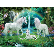 Unicorns: Rainbow Unicorn Family - Jigsaws