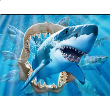 Undersea Glow: Great White Delight - Jigsaws