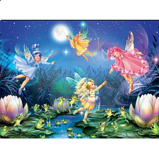 Forest Fairies: Fairies With Dancing Frogs - 1-100 Pieces