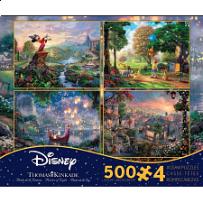 Thomas Kinkade: Disney 4 in 1 Jigsaw Puzzle Collection #2 - 500-999 Pieces