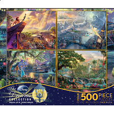 Thomas Kinkade: Disney 4 in 1 Jigsaw Puzzle Collection#3 -