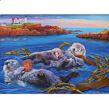 Sea Otter Family - Family Pieces Puzzle - 101-499 Pieces