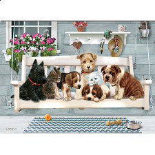 Porch Pals - Family Pieces Puzzle - 101-499 Pieces