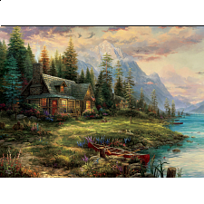 Thomas Kinkade: A Father's Perfect Day - Thomas Kinkade