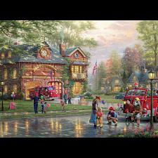 Thomas Kinkade: Hometown Firehouse - Thomas Kinkade